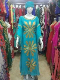 Blue Dresses Long Kurtis