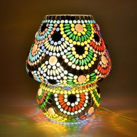 Decent Glass Mosaic Work Beautiful Color Combination Mosaic Table Lamp Home Decor Lighting