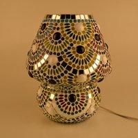 Decent Glass Mosaic Work Beautiful Color Combination Mosaic Table Lamp Home Decor Lighting
