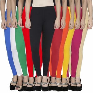 4-Way Cotton Lycra Ankle Length Legging - 170 GSM . 36 Thread Count