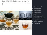 Double Wall Glasses Set of - 2