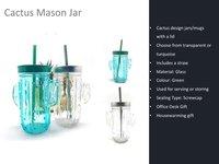 Cactus Mason Jar