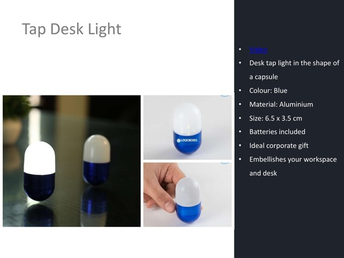 Capsule Shaped Tapping Desk Light