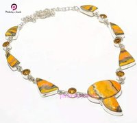 Natural Bumblebee 925 Silver Necklace