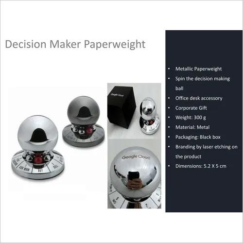 Decision Maker Spinner Metallic For Office Desk