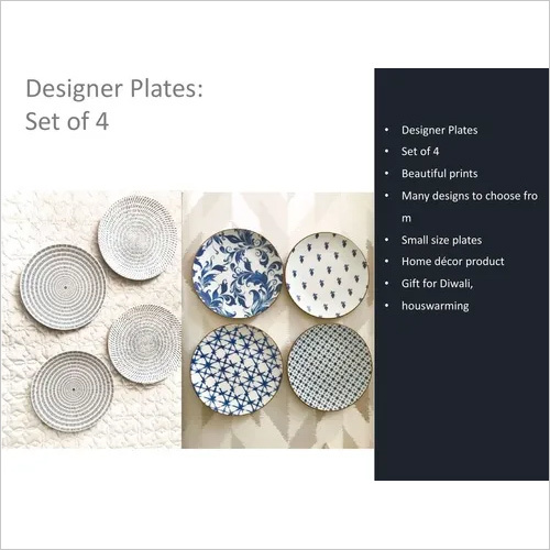 Designer Plates Set of 4