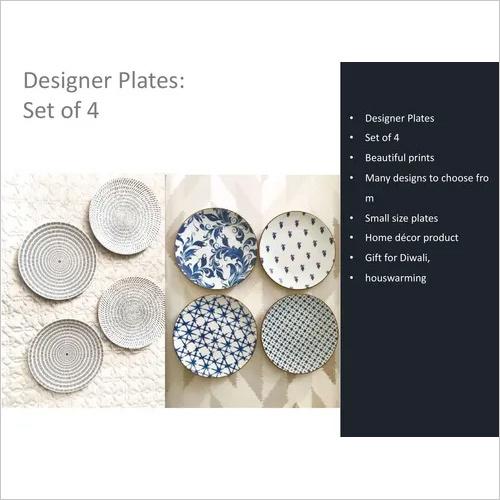 Designer Plates Set of 4