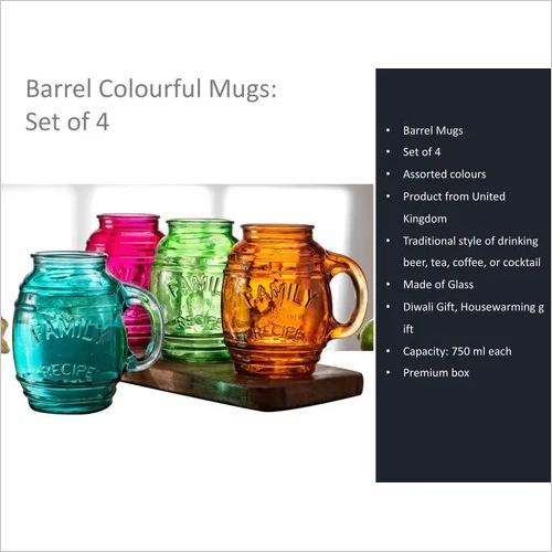 Barrel Colorful Mugs
