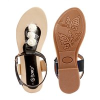 Synthetic Material Flat Sandals