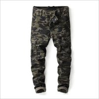 Mens Camouflage Printed Cargo Pant