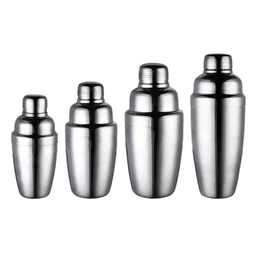 COCKTAIL SHAKER 3 PIECE -ST.STEEL