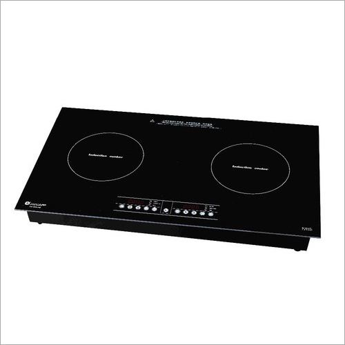 Double Burner Glass Induction Plate