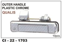 Outer Handle Plastic Chrome Qualis