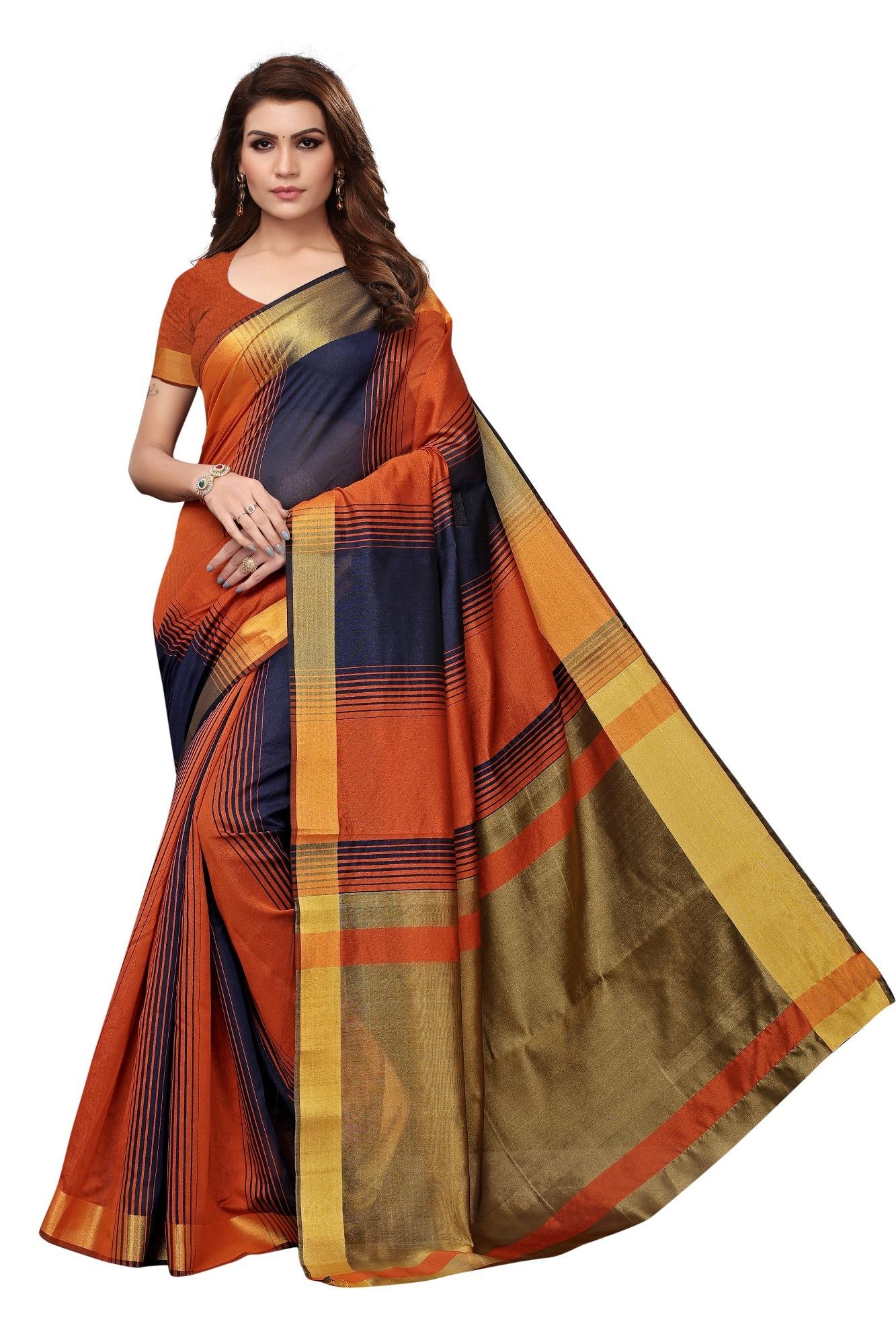Cotton silk saree