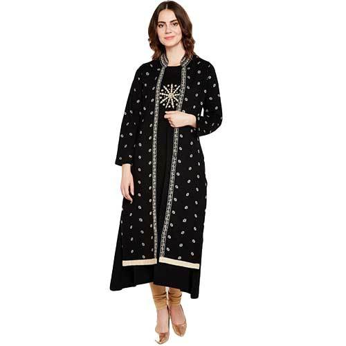 Ladies Double Layer Black Kurti