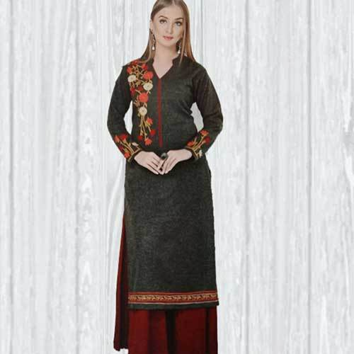 Ladies Straight Woolen Kurti