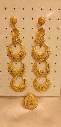 Traditional wear Golden Earrings