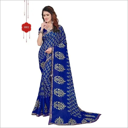 Fancy Georgette with lace saree