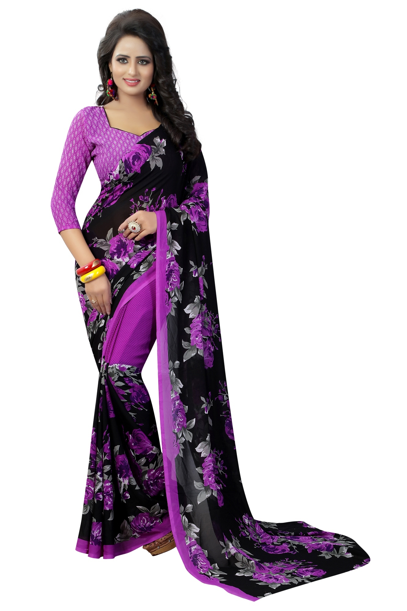 Fancy heavy georgette Saree