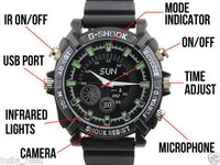 SPYEYES - Spy Wrist Watch Hidden Camera HD Sports