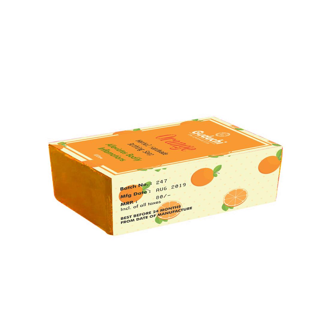 Orange Herbal Hand Made Soap