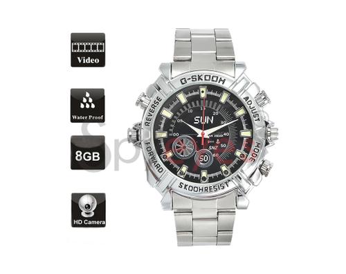 Spyeyes - Spy Wrist Watch Hidden Camera Hd Stainless Steel - Night Vision