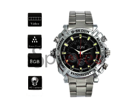 Spyeyes - Spy Wrist Watch Hidden Camera Hd Stainless Steel - Night Vision