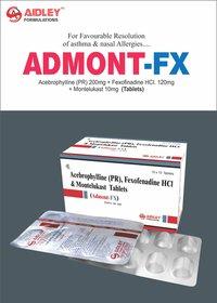 Acebrofyline 200mg + Fexofenadine 120mg + Montelukast 10mg Tablets