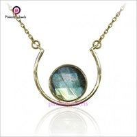 Natural Labradorite 925 Silver Necklace