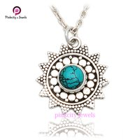 Turquoise Gemstone 925 Sterling Silver Jewelry Necklace