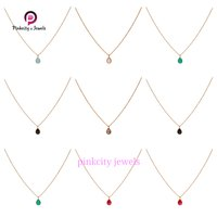 Natural Black Onyx 925 Silver Chain Necklace