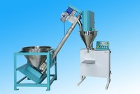 Dump with semi powder filling machine