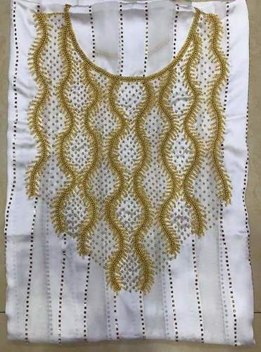 Dresses material  embroidered