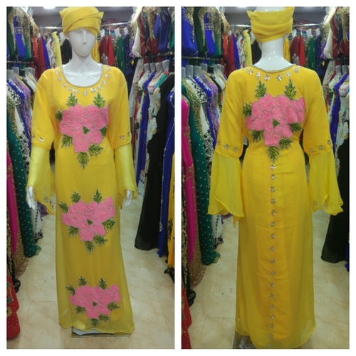 Long Kurtis yellow color