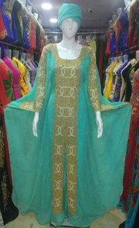 Embroidered kaftan party wear