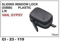 Sliding Window Lock Dibbi Plastic Left  Van, Gypsy