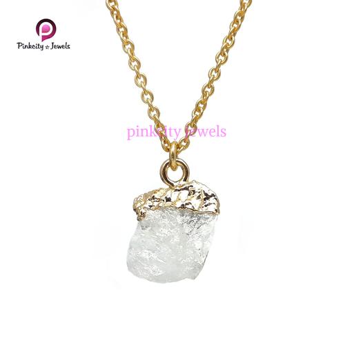 Rainbow Moonstone Druzy 925 Silver Necklace