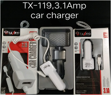 TX-119   3.1Amp CAR CHARGER