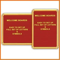 Golden Letters For Welcome Board