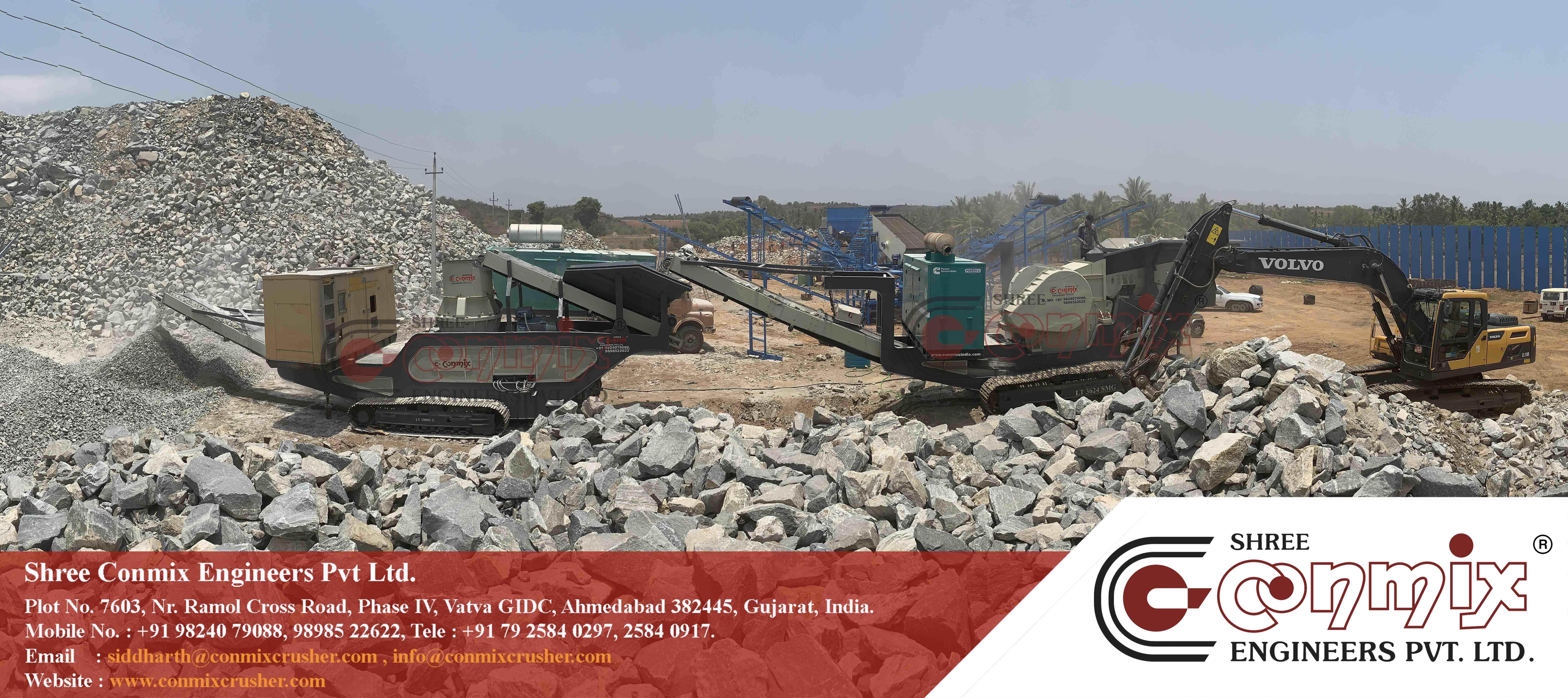 Track Mounted Mobile Stone Crushing Plant