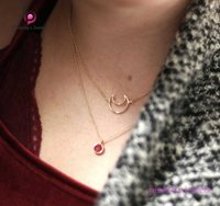 Ruby Faceted 925 Silver Chain Necklace