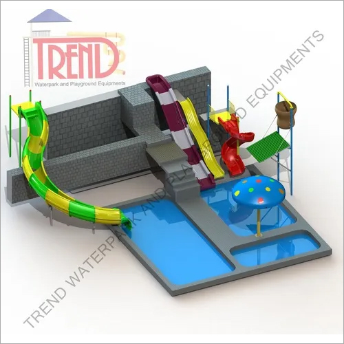 Combination of water slides