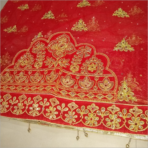 Designer Bridal Red Dupatta