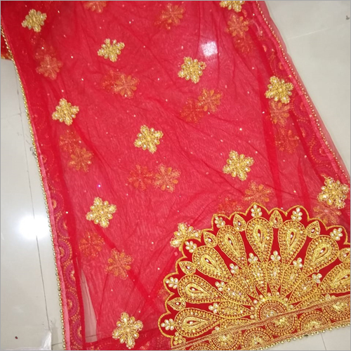 Heavy Embroidered Bridal Dupatta