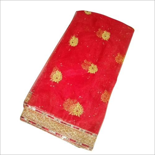 Golden Red Bridal Dupatta