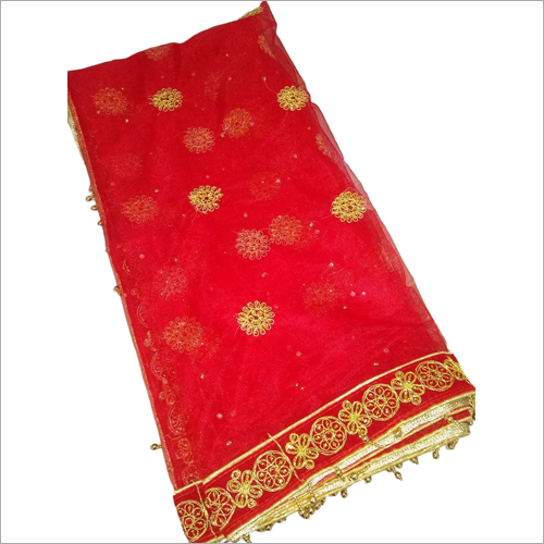 Chiffon Bridal Red Dupatta