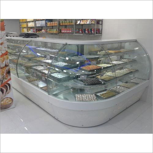 SS Glass Display Counter