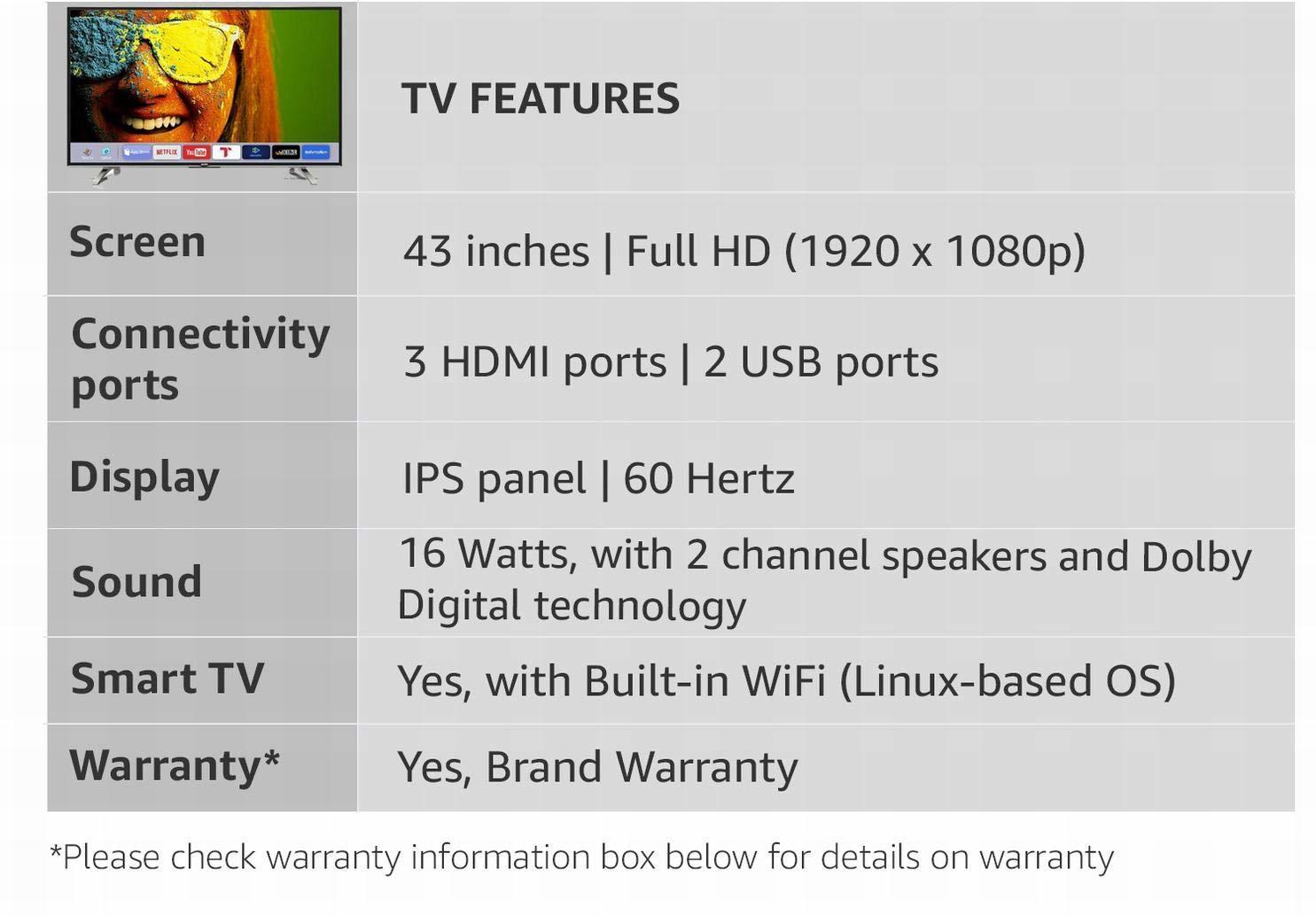 Sanyo Smart 107.95cm (43 Inch) Full HD LED Smart TV