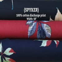 Spyker 100% cotton discharge print