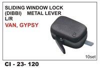 Sliding  Window Lock(Dibbi) Metal Lever L/R Van, Gypsy